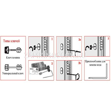 Инструкция по перекодировки замков CISA