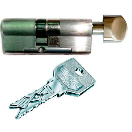Evva 3KS 97mm 41*56 ключ-вертушка (латунь,никель)