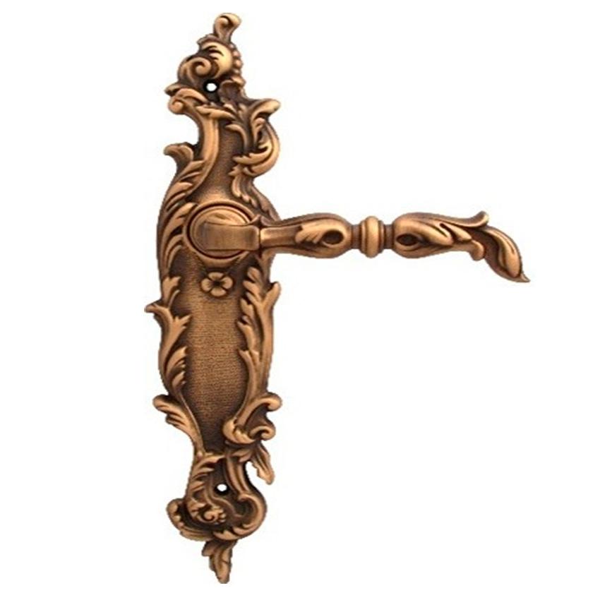 Дверная ручка на планке под фиксатор CLASS mod. 1100/1130 Gumana WC матовая бронза