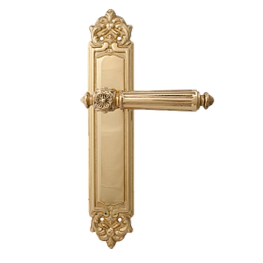 Дверная ручка на планке пустышка MELODIA mod. 246 NIKE PASS полированная латунь