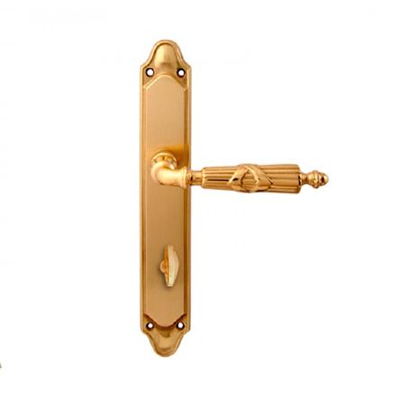 Дверная ручка на планке под фиксатор MELODIA mod. 282/158 PRAGA WC полированная латунь