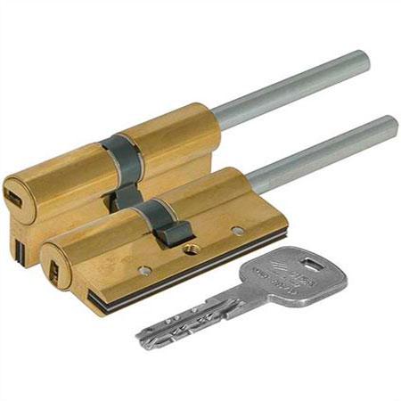Цилиндр (личинка для замка) CISA AP3 OH3S7-90-0-66 (80мм/50*30 кл/верт-хвостовик) латунь