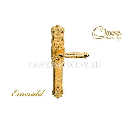 Дверная ручка на планке пустышка CLASS mod. 1070 Emerald PASS золото 24К