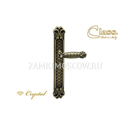 Дверная ручка на планке пустышка CLASS mod. 1060/1010 Crystal PASS матовая бронза + S