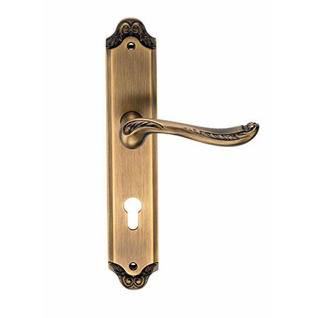 Дверная ручка на планке под цилиндр GENESIS ACANTO ANT. COFFEE CL