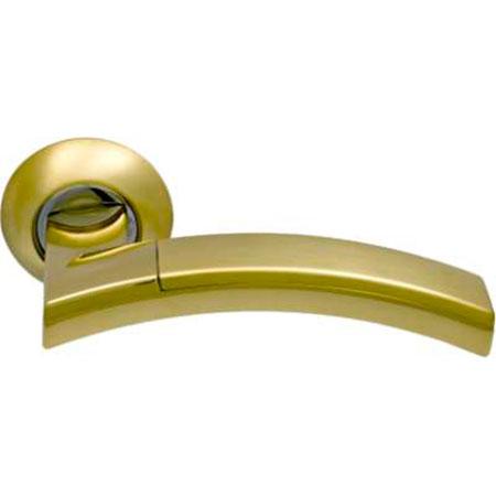 Дверные ручки ARCHIE SILLUR-132 S.GOLD/P.GOLD золото глянец / матовое золото