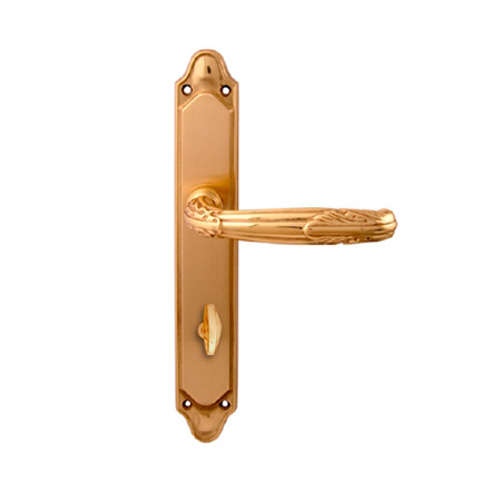 Дверная ручка на планке под фиксатор MELODIA mod.281/158 ROMA WC полированная латунь