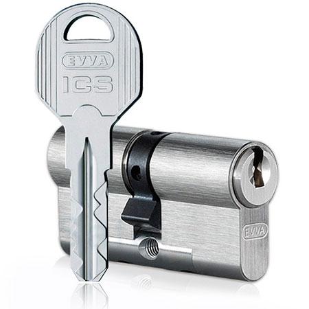 Evva ICS 82mm 36*51 ключ-ключ (латунь,никель)