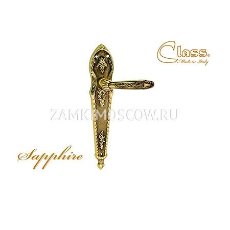 Дверная ручка на планке пустышка CLASS mod. 1040 Sarrhire PASS старинная латунь + коричневый