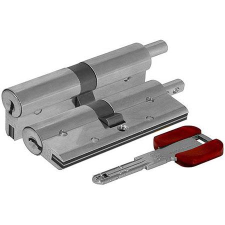 Цилиндр (личинка для замка) CISA RS3 S OL3S2.28.0.12.С5 (75мм/35*40 кл/верт) никель