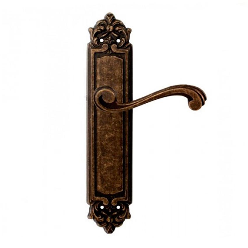 Дверная ручка на планке пустышка MELODIA mod. 247 CAGLIARI PASS античная бронза