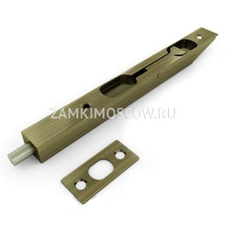 Шпингалет торцевой Vantage LX140AB (бронза)
