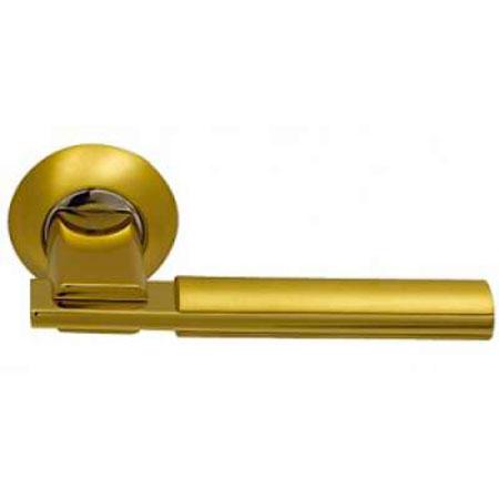 Дверные ручки ARCHIE SILLUR-94A S.GOLD/P.GOLD золото глянец / матовое золото