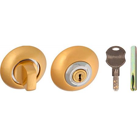 Завертка с ключом Laredo 1 ET-BK6 SG-CP матовое золото