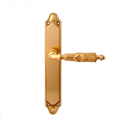 Дверная ручка на планке пустышка MELODIA mod. 282/158 PRAGA PASS полированная латунь
