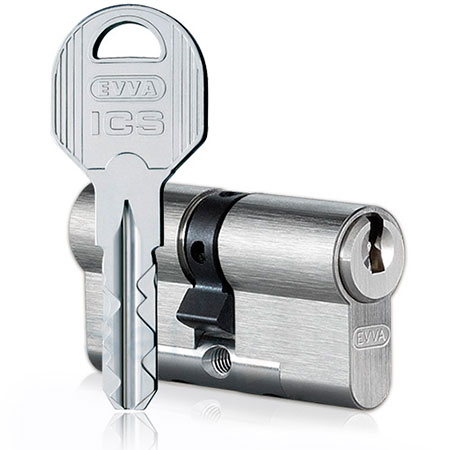 Evva ICS 92mm 36*56 ключ-ключ (латунь,никель)