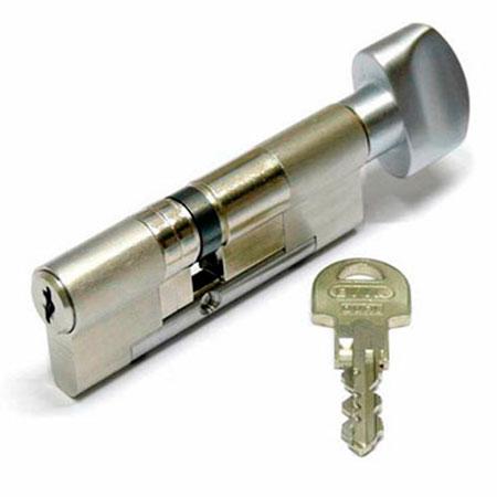 Evva ICS 107mm 31*76 ключ-вертушка (латунь,никель)