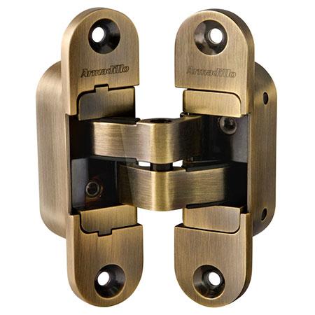 Петли дверные скрытой установки Armadillo Architect 3D-ACH 60 AB (бронза, левая)
