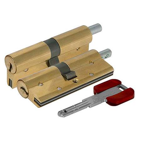 Цилиндр (личинка для замка) CISA RS3 S OL3S2.21.0.66.С5 (90мм/ 40*50 кл/верт) латунь