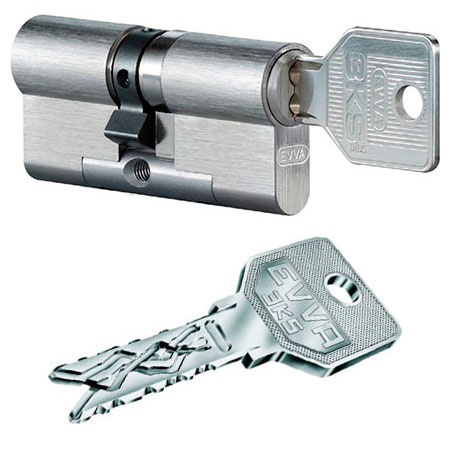 Evva 3KS 92mm 31*61 ключ-ключ (латунь,никель)