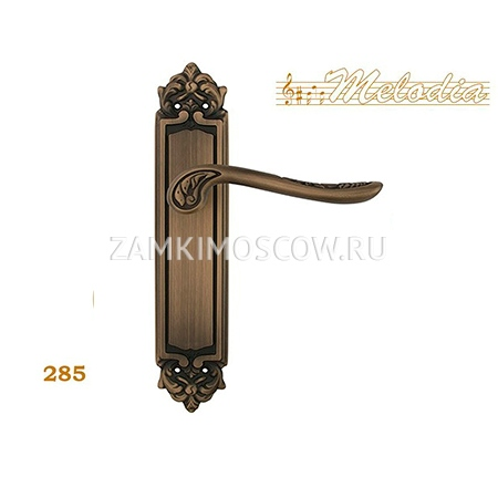 Дверная ручка на планке пустышка MELODIA mod. 285 DAISY PASS матовая бронза
