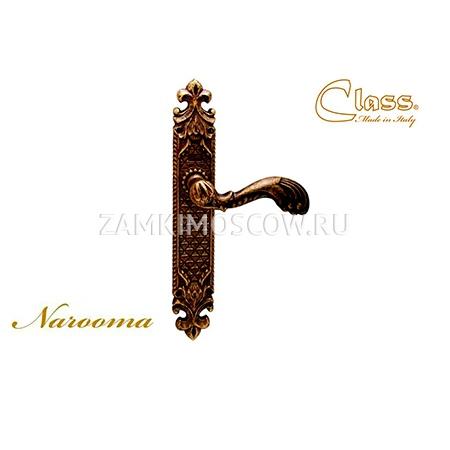 Дверная ручка на планке пустышка CLASS mod. 1080 Naroma PASS бронза ретро