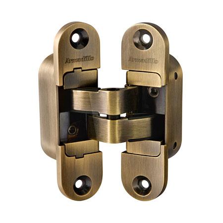 Петли дверные скрытой установки Armadillo Architect 3D-ACH 40 AB (бронза,левая)