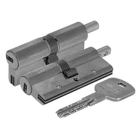 Цилиндр (личинка для замка) CISA AP3 OH3S2-29-0-12 (90мм 45*45 ключ вертушка) никель
