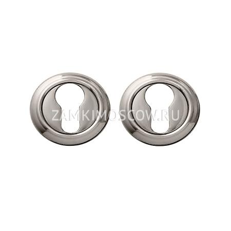 Накладка на цилиндр MELODIA (Италия) 50V серебро+коричневый