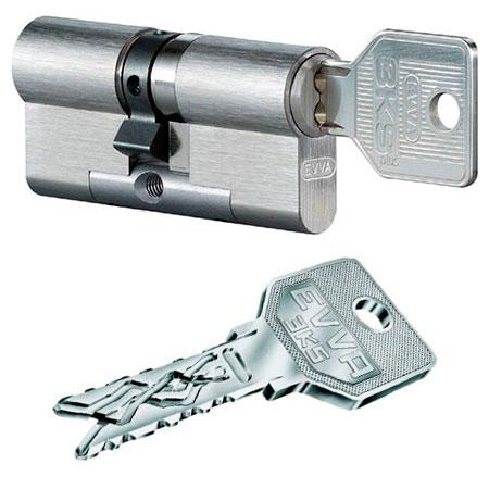 Evva 3KS 107mm 41*66 ключ-ключ (латунь,никель)