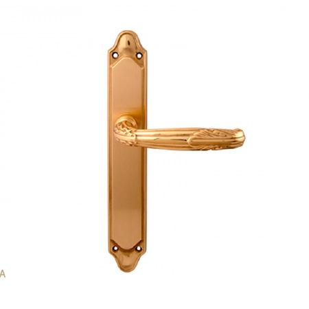 Дверная ручка на планке пустышка MELODIA mod.281/158 ROMA PASS полированная латунь