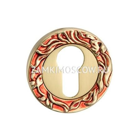 Накладка на цилиндр декоративная Renz (Италия) ET 20 ASG антикварное золото