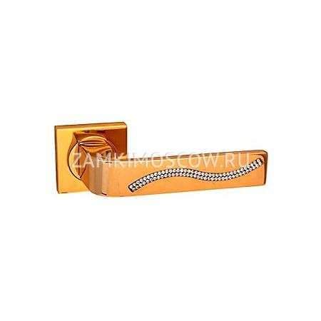 Дверные ручки Forme Monza S золото + кристаллы Swarovski