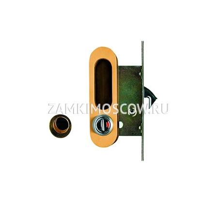 Замок для раздвижных дверей и шкафов-купе ARCHIE K01/02-V2II (матовое золото)