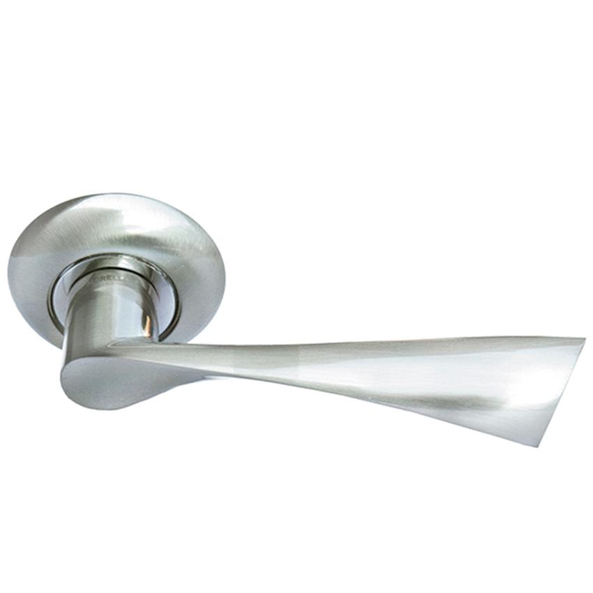 Дверные ручки Morelli Капелла MH-01 SN белый никель.