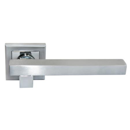 Дверные ручки Morelli Central MH-16 SC/CP матовый хром/полированный хром