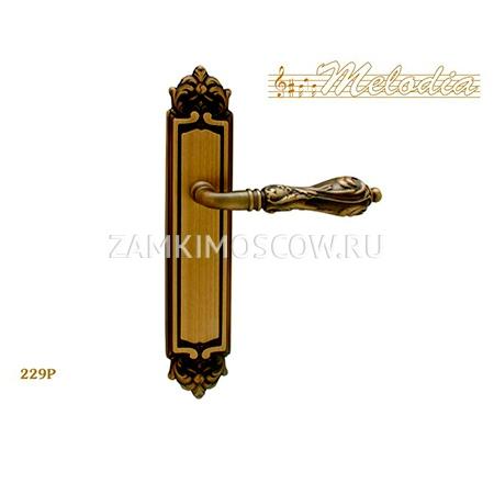 Дверная ручка на планке пустышка MELODIA mod.229 LIBRA PASS матовая бронза