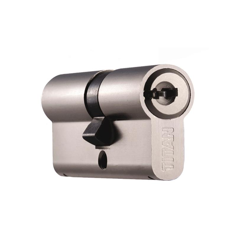 Цилиндр (личинка для замка) TITAN K56 62mm 31*31 ключ-ключ (латунь,никель)